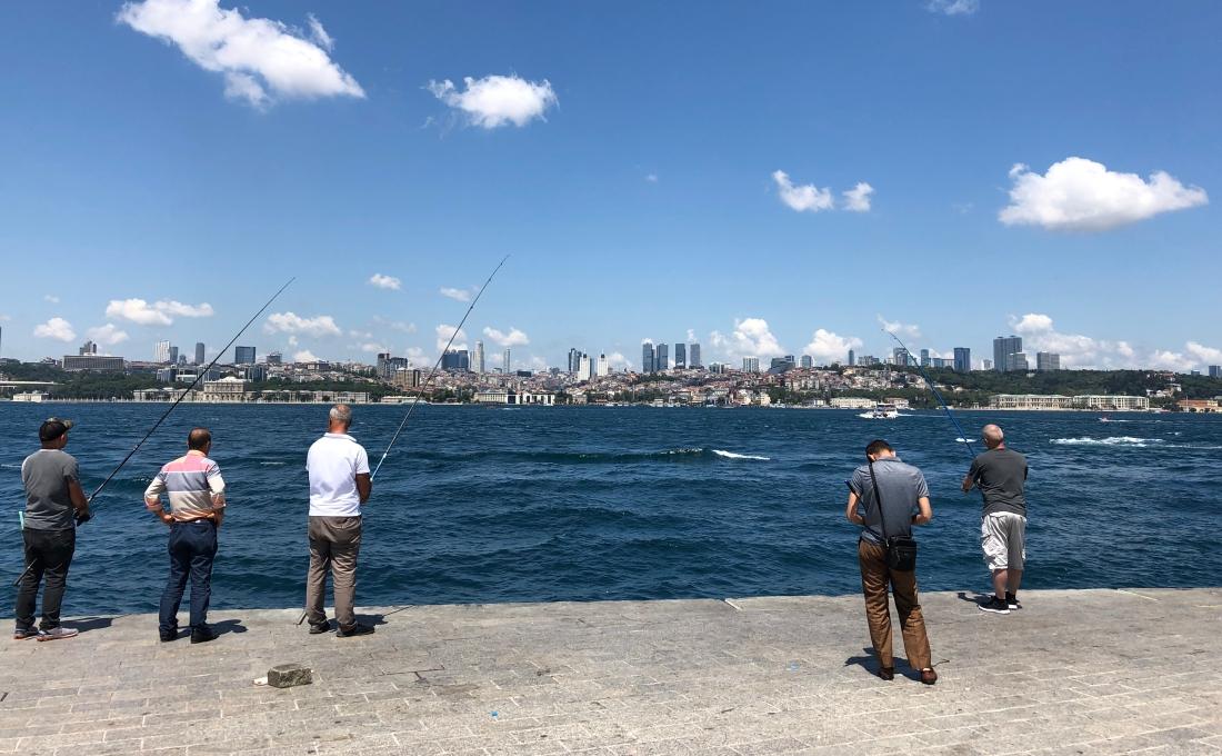 Pesca en Estambul